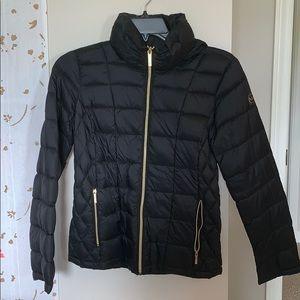 black Michael Kors puffer jacket